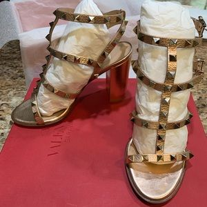 Valentino Rose Gold shoes,
